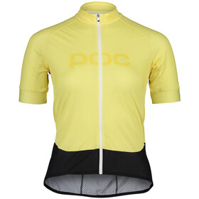 POC Essential Road Logo SS Jersey Women, light sulfur yellow/sulfur yellow